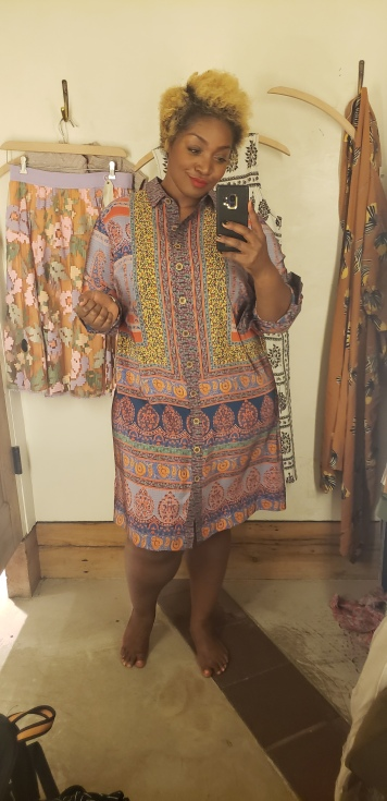 Casablanca Silk Shirtdress, 16W, $230
